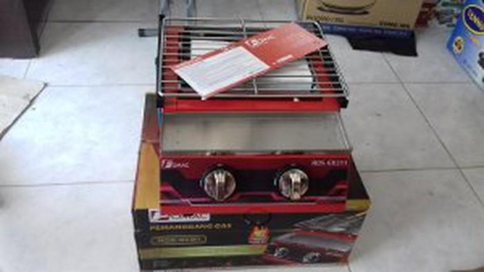 Kompor Panggang Tanpa Asap 2 Tungku Fomac ROS-GK211