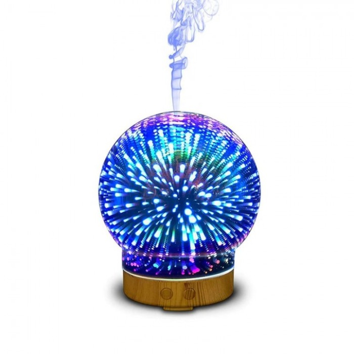 Humidifier 3d - 05 Glass Circle Light Essential Oil Aroma Diffuser 100ml