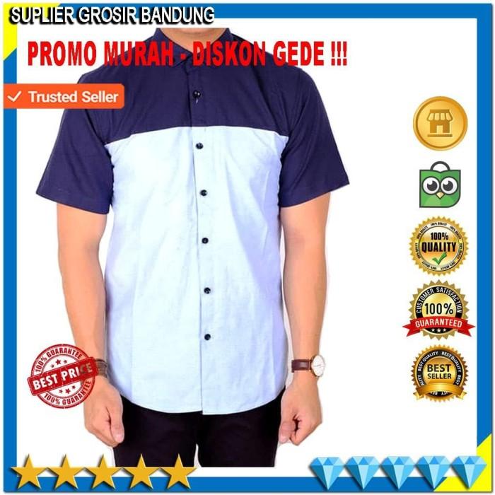 Jual Baju Kemeja Lengan Pendek Pria Kemeja Combi Baju Atasan Pria ... b42127659d