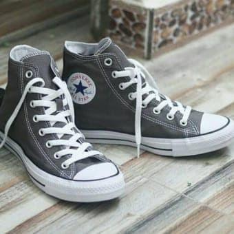 Sepatu Converse Allstar Keren Murah Grade Ori Hitam kado hadiah cowok -  Abu-abu Muda 550455581b