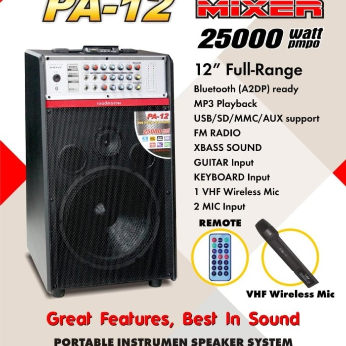 harga Speaker aktif roadmaster pa 12 new Tokopedia.com