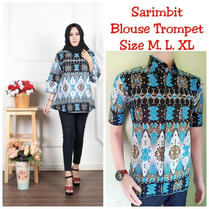 Baju Batik Couple Atasan Batik Sarimbit Seragam guru Modern