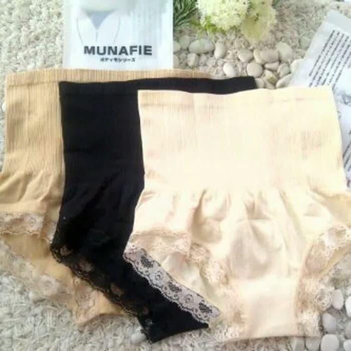 Celana korset munafie slimming pants pelangsing perut - Hitam
