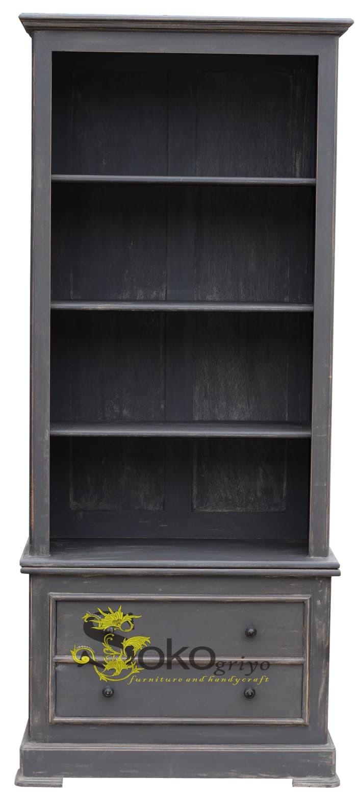 Jual ALMARI rak dispalay - cupboard A37 - RAK BUKU -BOOK