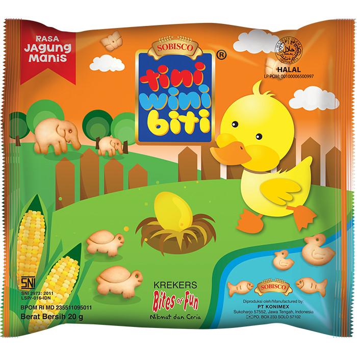 Foto Produk TINI WINI BITI biskuit anak Jagung Manis 20 g bentuk binatang 3 sachet dari Konimex Store