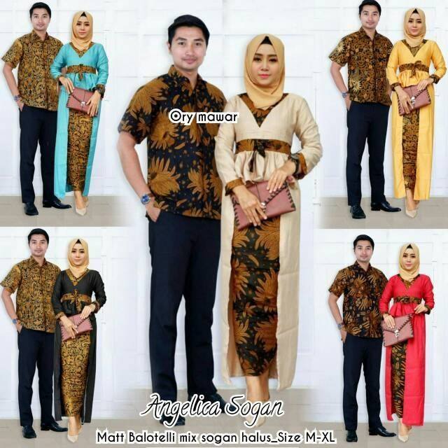 Atasan Wanita Batik Tunik Batik Seragam Guru Baju Kantor. Source · Sarimbit Batik Modern Long Dress Couple Angelica Sogan