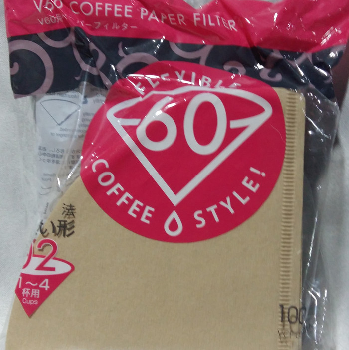 HARIO V60 Paper Filter VCF-02-100M Warna COKLAT, Original JAPAN