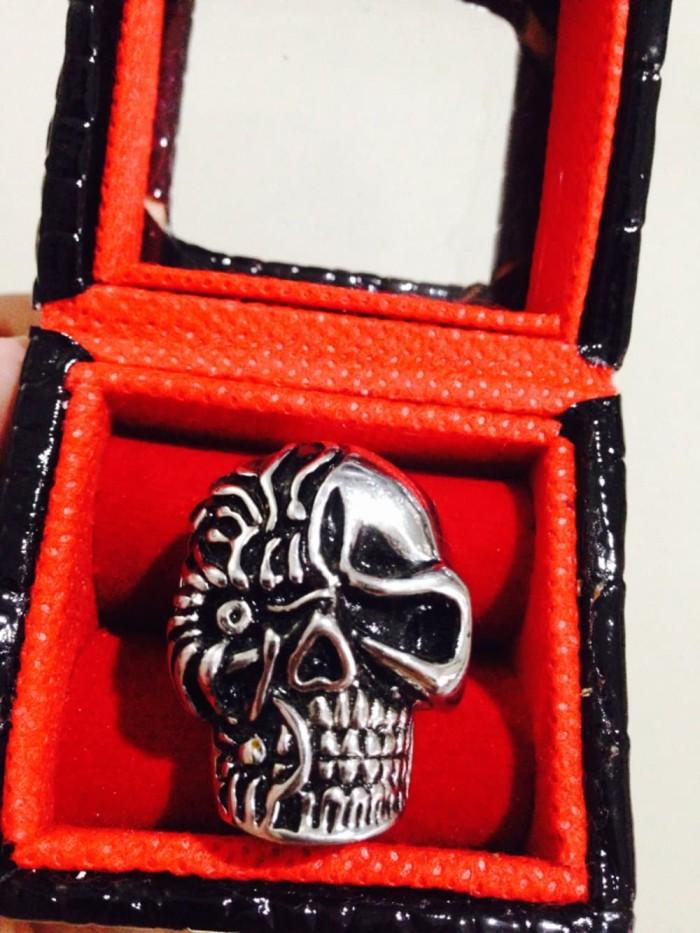 Cincin Tengkorak Harley Davidson