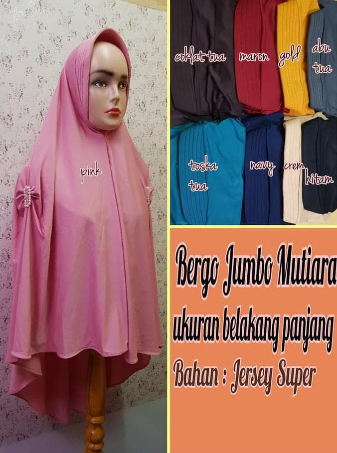 Jual Hijab Kdewi Jilbab Bergo Jumbo Mutiara Bahan Jersey Jepang Bergo Jakarta Barat Kdewi Hijab Tokopedia