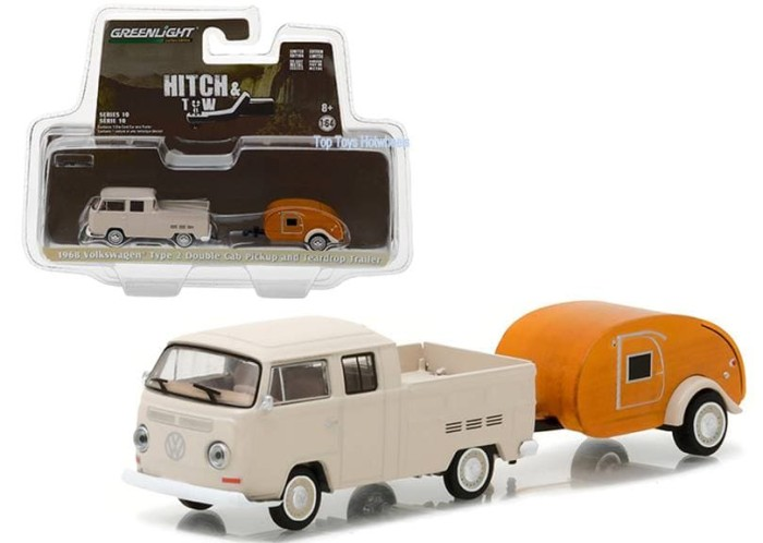 GREENLIGHT 1/64 HITCH & TOW SERIES 10 1968 VW T2 DOUBLE CAB PICKUP