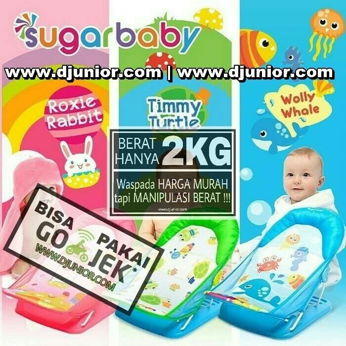 SUGAR BABY - DELUXE BABY BATHER ROXIE RABBIT TIMMY TURTLE WOLLY WHALE - Biru Muda