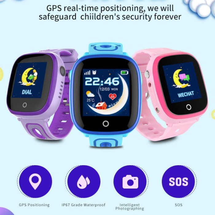 Jam Tangan Smartwatch HP Anak SKMEI Anti Air / Waterproof GPS + SOS