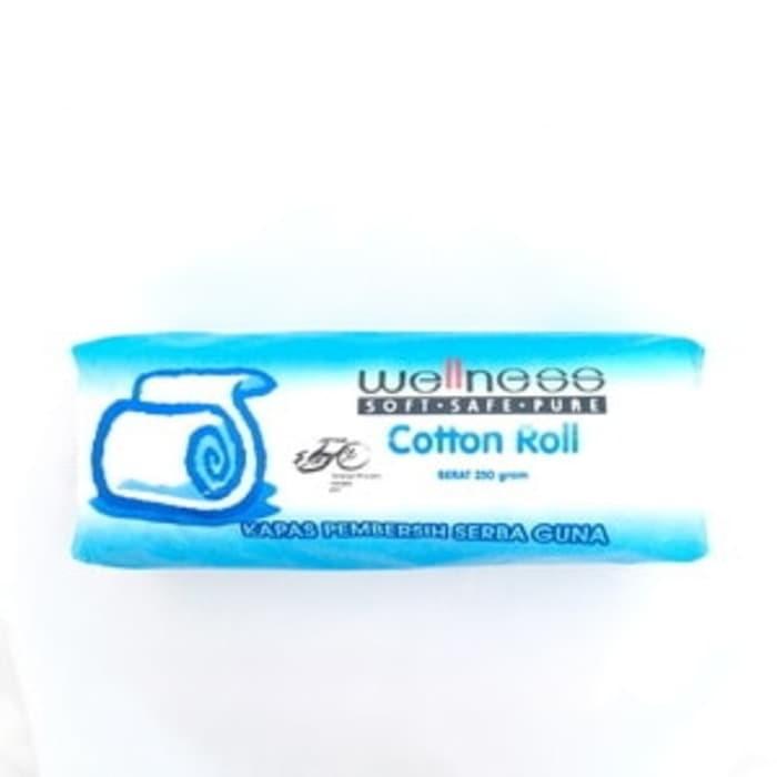 harga Kapas gulung wellness cotton roll pembersih serba guna baby bayi 250gr Tokopedia.com