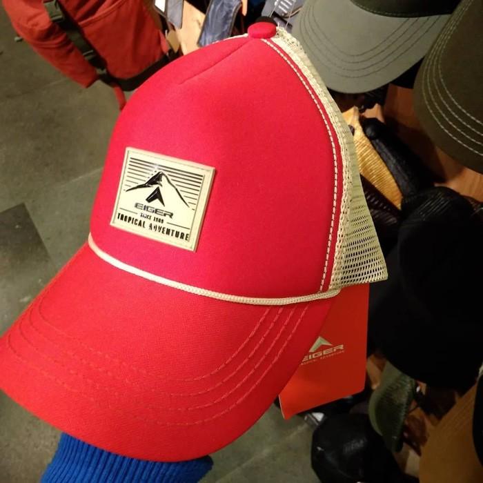 Jual Topi Eiger Classic Outdoor Cap Red Merah 910003882 Original ... aaf5c29c1d