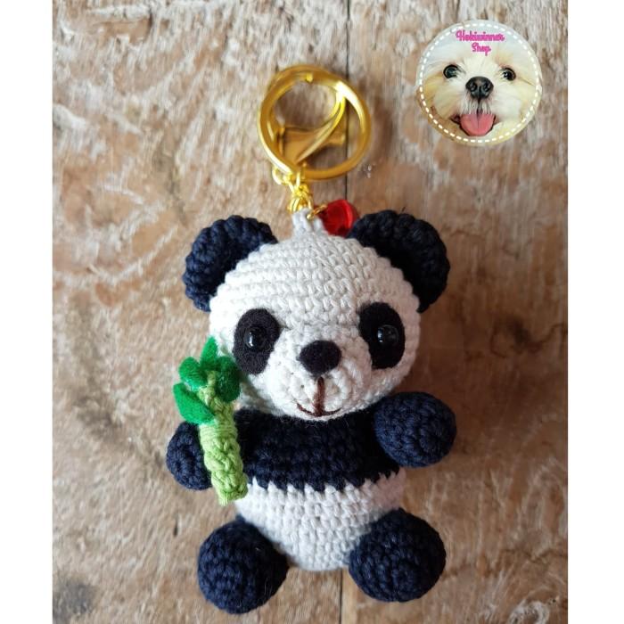 harga Gantungan kunci/tas - boneka amigurumi/crochet/rajut panda Tokopedia.com