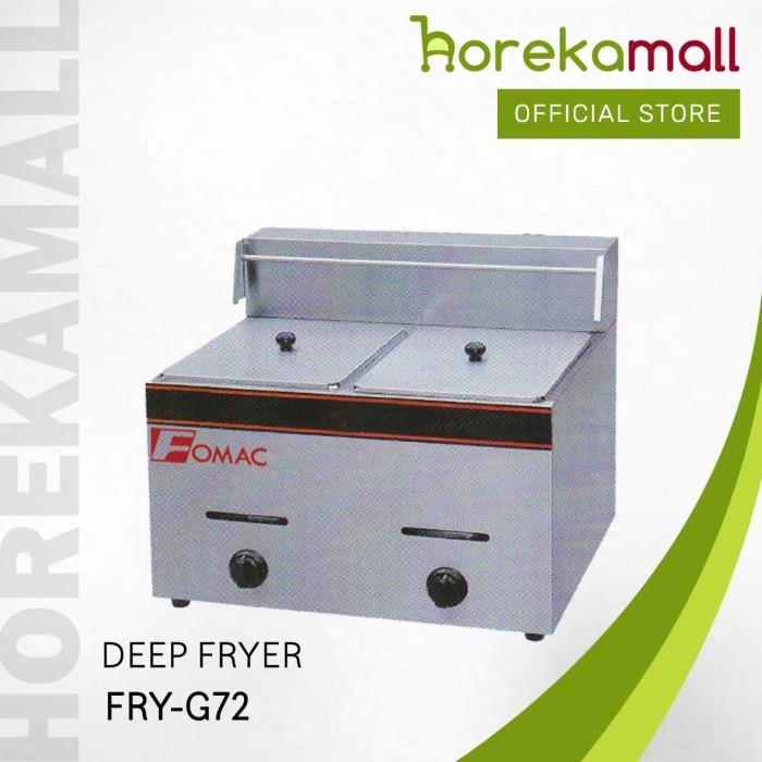 harga Fomac deep fryer double tank fry-g72 penggorengan gas Tokopedia.com