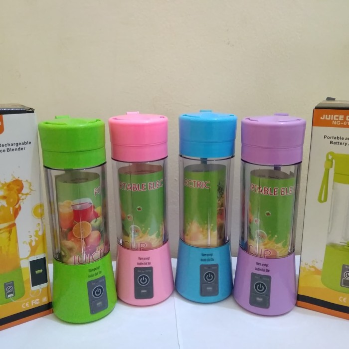 Juice Cup Portable and Rechargeable Battery Blender Mini Shake N GO - Biru