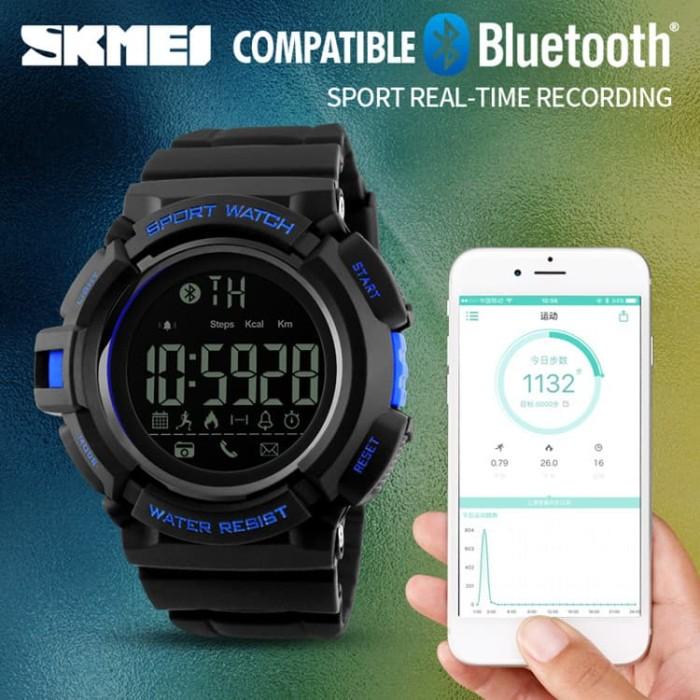 Jam Tangan Olahraga Smartwatch Bluetooth - DG1245 BL-Black Blue-SKMEI