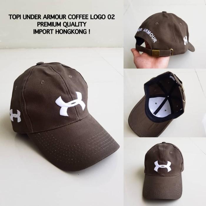 TOPI BASEBALL COWOK UNDER ARMOUR - Cokelat