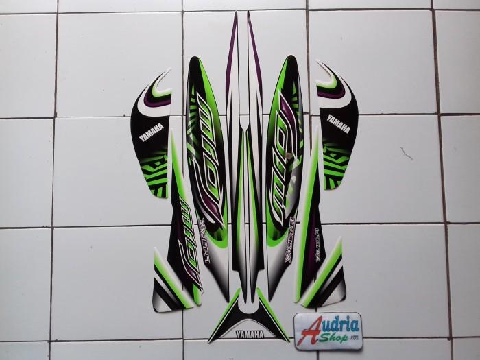 harga Striping stiker motor yamaha mio j sporty 2013 hitam-putih-hijau Tokopedia.com