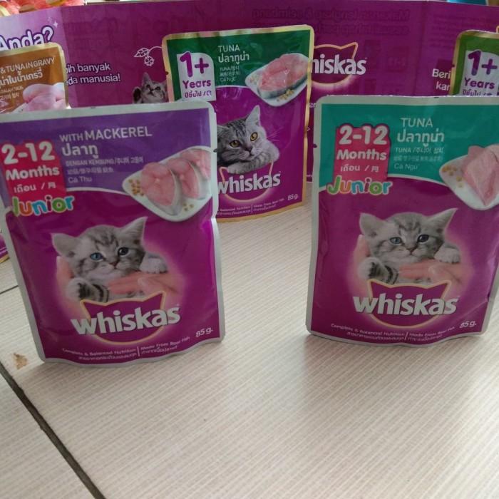Jual Makanan Kucing Whiskas Makanan Basah 85gram Kab Sidoarjo