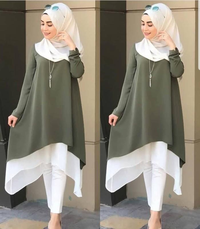 harga Sale/promo/kalita tunik army pr001/baju tunik murah/atasan murah/dress Tokopedia.com