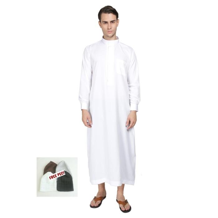 Jual Gamis Jubah Pria Putih Manset Baju Koko Murah Tokopedia