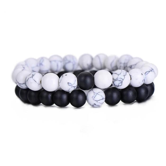 harga Gelang couple batu natural black onyx doff howlite putih 8mm elastis Tokopedia.com