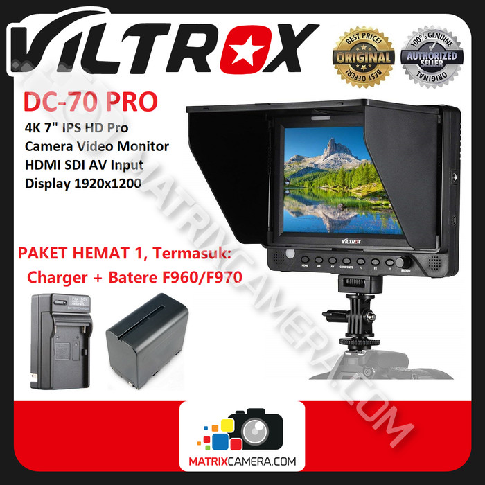 "Foto Produk Viltrox DC-70 Pro 4K 7"" IPS HD/SDI/AV/Tally Monitor Paket Hemat 1 dari MatrixCamera"