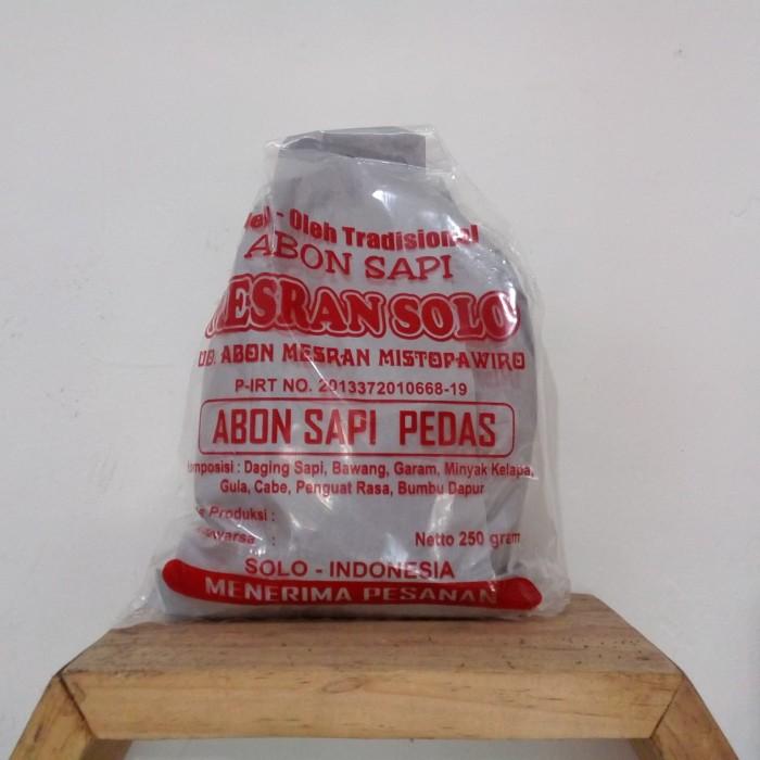 harga Jual abon sapi mesran pedas asli khas solo Tokopedia.com