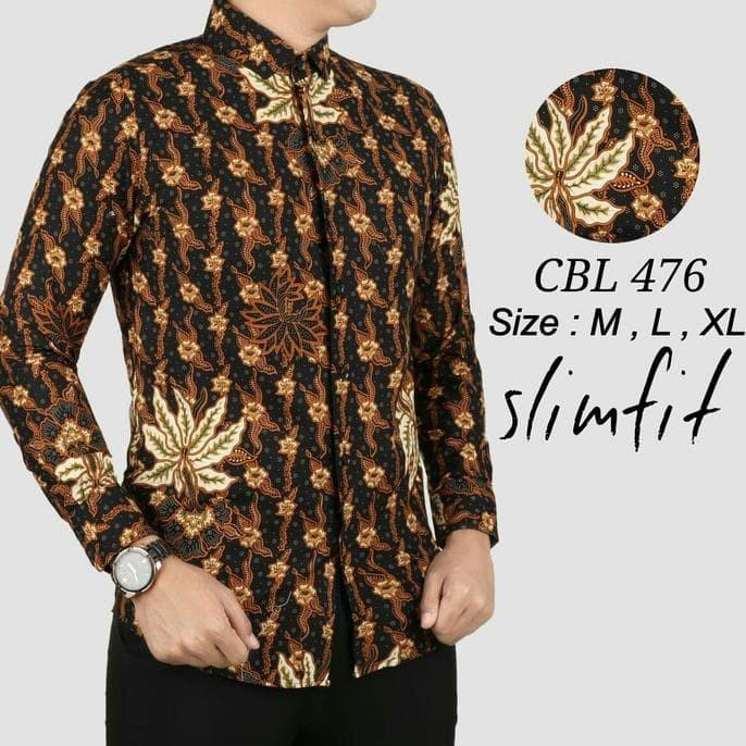 Kemeja Batik Pria Baju Lengan Panjang Baju Batik Modern - diskon ... 5c100fbfd8