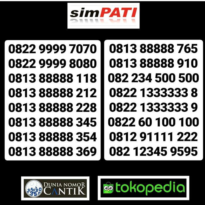 Nomor Cantik Simpati Kartu Perdana Telkomsel