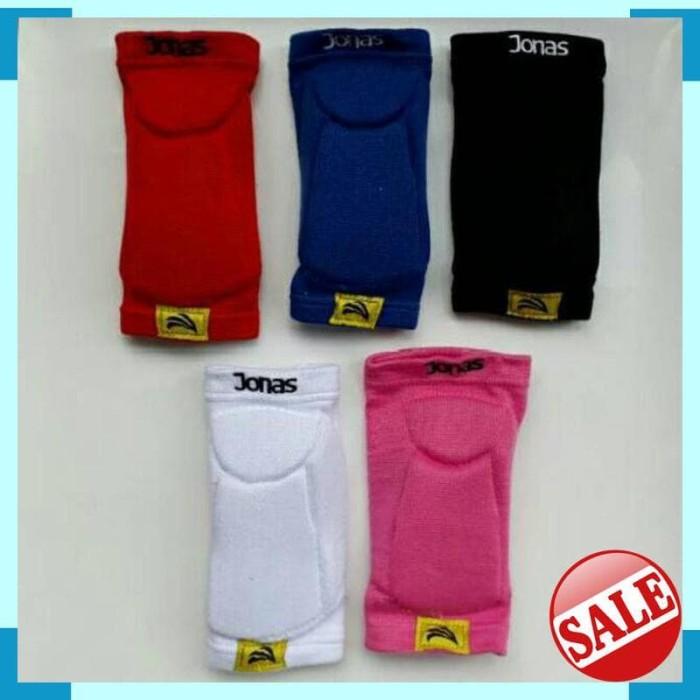 Elbow pad pelindung sikut jonas pro merah, biru pink, putih, hitam