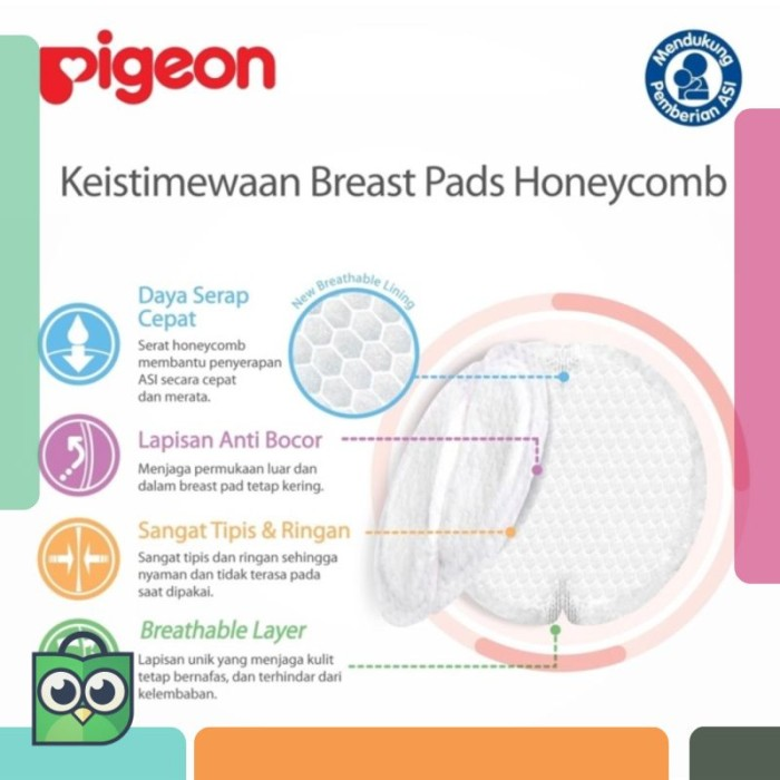 Pigeon Breastpad Breast Pads Honeycomb isi 66pcs