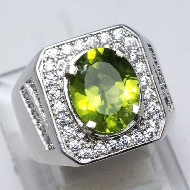 harga Cincin cowok natural peridot ring alpaka Tokopedia.com