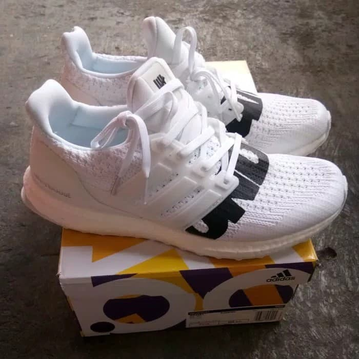 b8386c5ad6a64 Jual Adidas UltraBoost x Undefeated White Black 100% UA Boost BASF ...