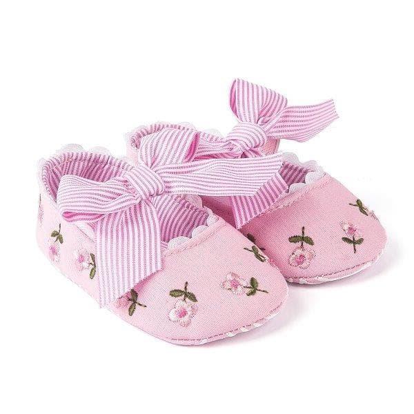 harga Sepatu prewalker pw anak bayi perempuan cewek pink bunga pita garis Tokopedia.com