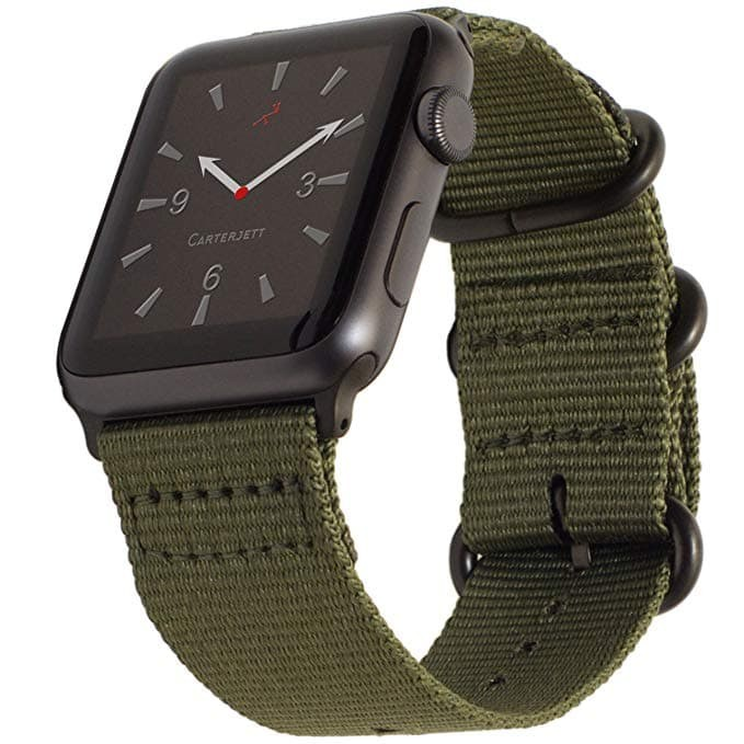 Foto Produk Tali Jam Apple Watch Premium Woven Nylon Buckle Strap 42mm - Green dari gudanggadget14