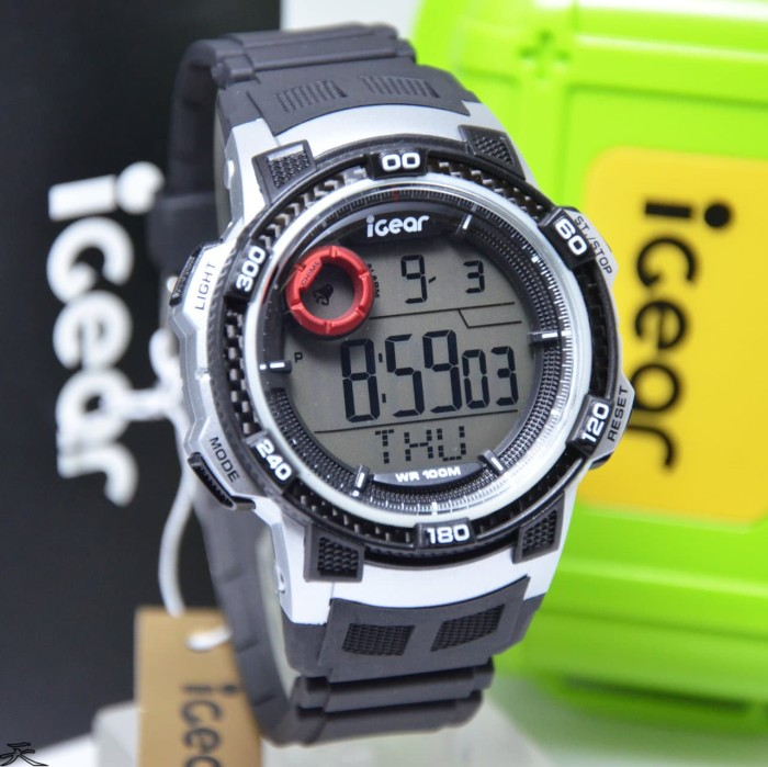 iGear Watch Digital- i30 Black - Jam Tangan Sport Pria - Rubber Strap
