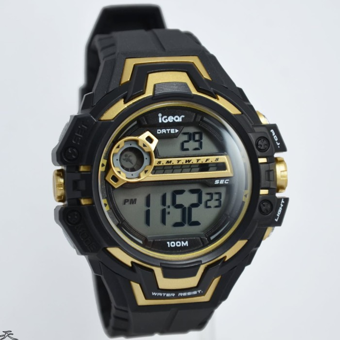 iGear Watch Digital- i28 Black -Jam Tangan Sport Pria - Rubber Strap