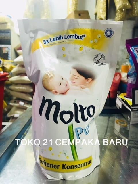 Jual Molto Pure Refill 800 Ml Softener Pelembut Pakaian Baby Bayi