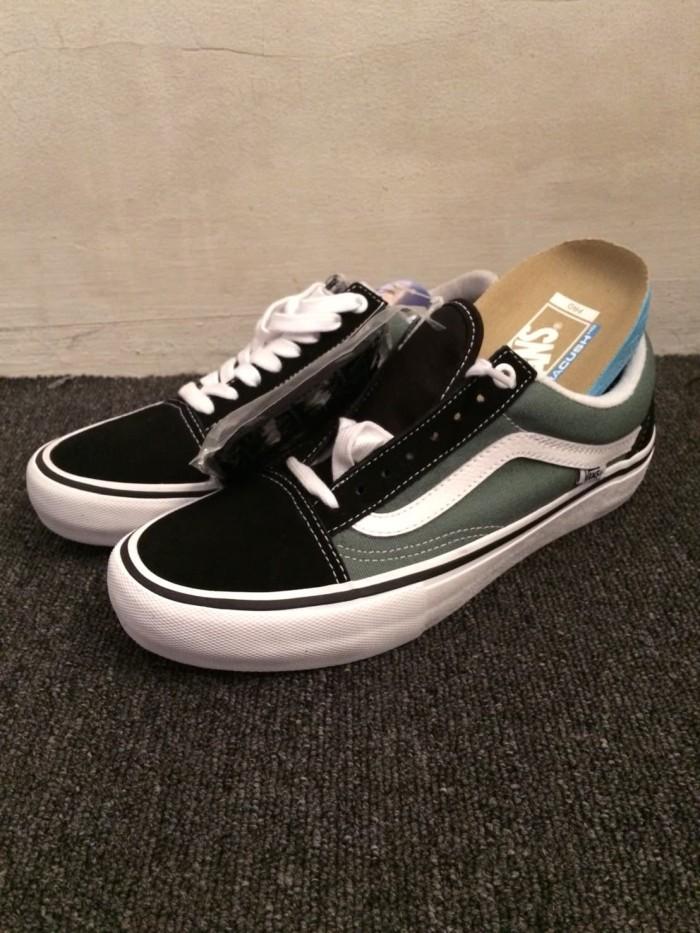 Jual Vans Old Skool Pro Skate Shoe Black Duck Green - Kota Bandung ... 4a43f8951