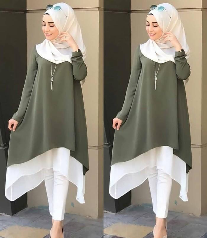 30d926f7aa10 Kalita maxi dress muslim panjang modis casual dress trendy pakaian harga ...