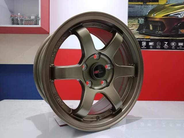 harga Velg mobil ring 15 hsr tokyo lebar pelek 7 lubang baut 5 matte bronze Tokopedia.com