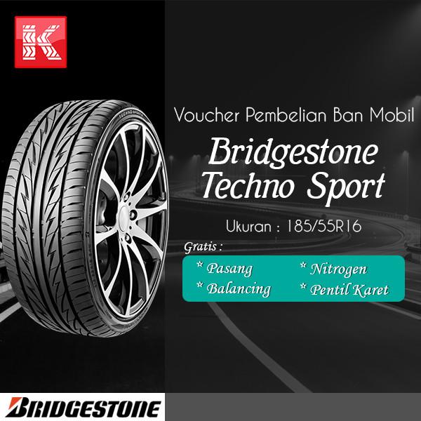 Jual Ban Mobil Bridgestone Techno Sport 185/55R16 (Vocer