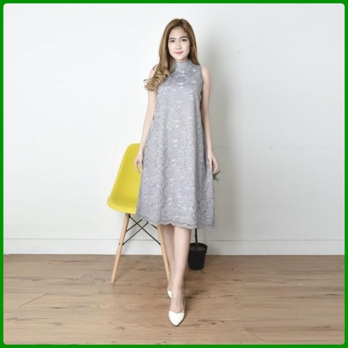 Jual Dress Brokat Modern Wanita Mewah Gaun Pesta Fashion Wanita
