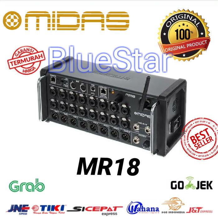 harga Midas mr18 rackmount digital mixer original for android / ios Tokopedia.com