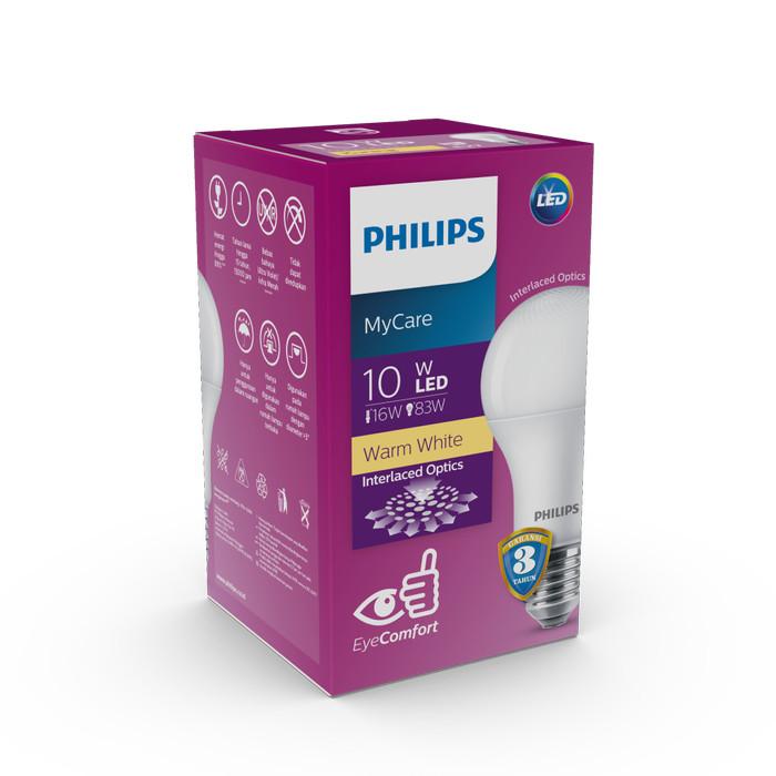 Philips mycare ledbulb 10w e27 3000k 230v kuning