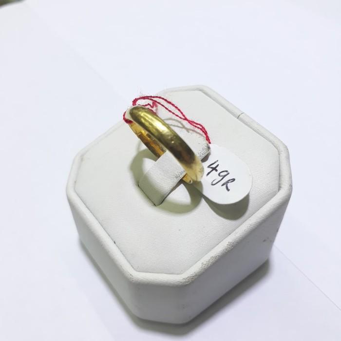Cincin Emas 24 Karat Berat 4 Gram Ukuran 15 Dan 16 Ring Carat Gold
