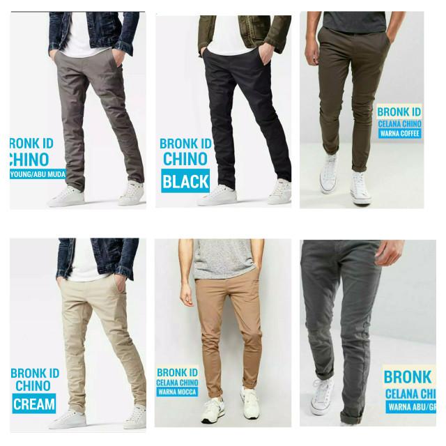 Celana Chino Premium | Celana Panjang Pria (BEST SELLER) - Hitam, M